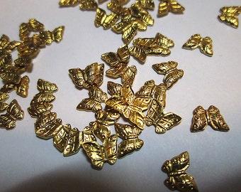 35 Tiny Brass Butterflies