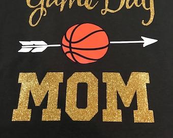 Game Day Mom Basketball shirt. Perfect for Basketball Moms