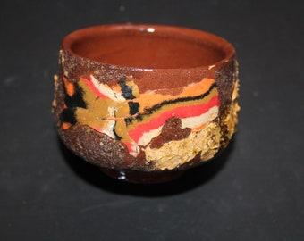 Ceramic tea cup Mokume gane 50