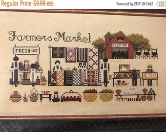 APRILSALE Told in a Garden, Farmers Market, by MLI, 100 by 209, Counted Cross Stitch Pattern
