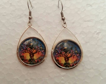 Earring tree of the life