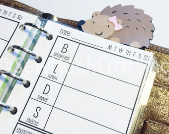 Printed Pocket Size Food Tracker Planner Inserts {{30 DAYS}}