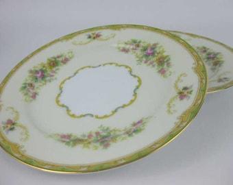 Vintage Noritake Bread ~ Dessert Plates (2) #N1014 Circa 1933