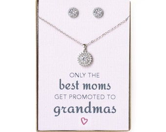 Grandma Mothers Day, Gift for Grandma Gift for Grandmother, Personalized Jewelry Set Mothers Day Gift Grandma Necklace, Gift for Mom, N525-S