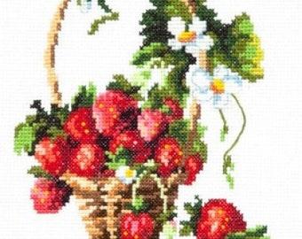 Cross Stitch Kit Strawberry basket art. 55-11