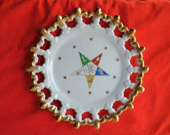 Vintage Masonic Order of the Eastern Star Plate