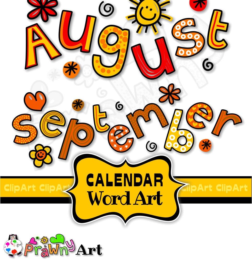 Calendar Clipart Font Clip Art Text Months of the Year