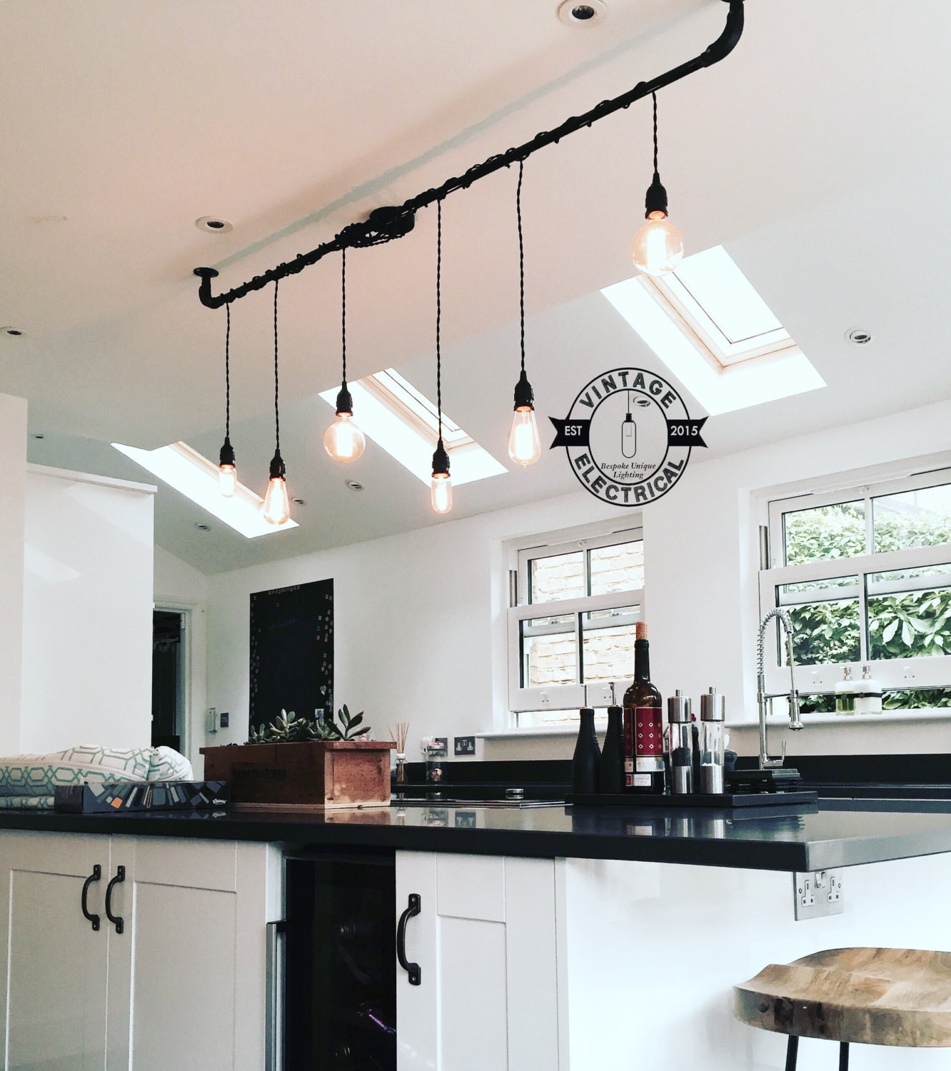 drop lights for kitchen the burnham 6 x pendant drop light hanging lights ceiling 6977