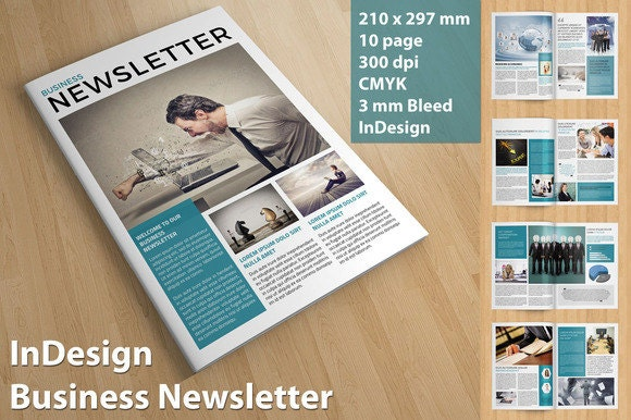 Business Newsletter Template Indesign Cs And Ms Word Version