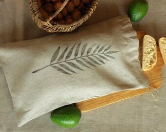 Linen bread bag, linen bread keeper, Bread bags, Organic food storage, Bread storage bag, Fabric bread basket, Fresh bread bag