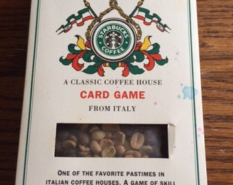 Vintage Starbucks card game from Italy