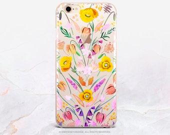 iPhone 8 Case iPhone X Case iPhone 7 Case Spring Floral Clear GRIP Rubber Case iPhone 7 Plus Clear Case iPhone SE Case Samsung S8 Case U369