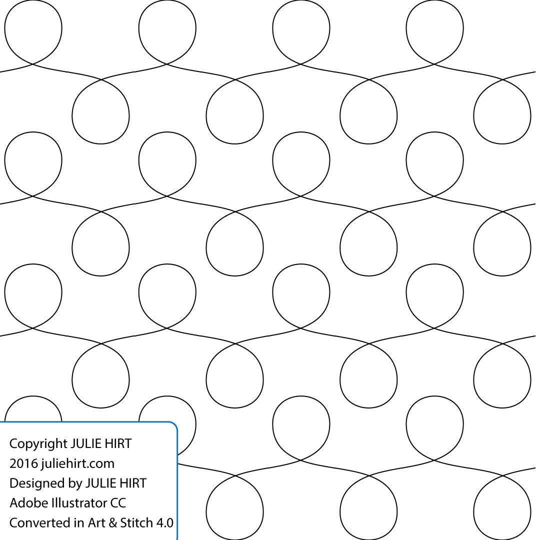 Fett-LOOPS - Longarm Quilting digitale Muster für Kante an Kante und ...