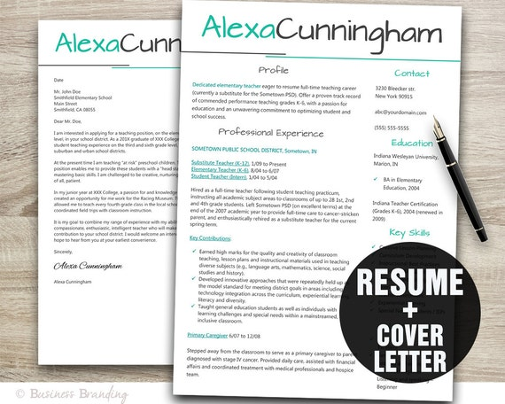 Resume Template Teacher Resume Template Resume Cover