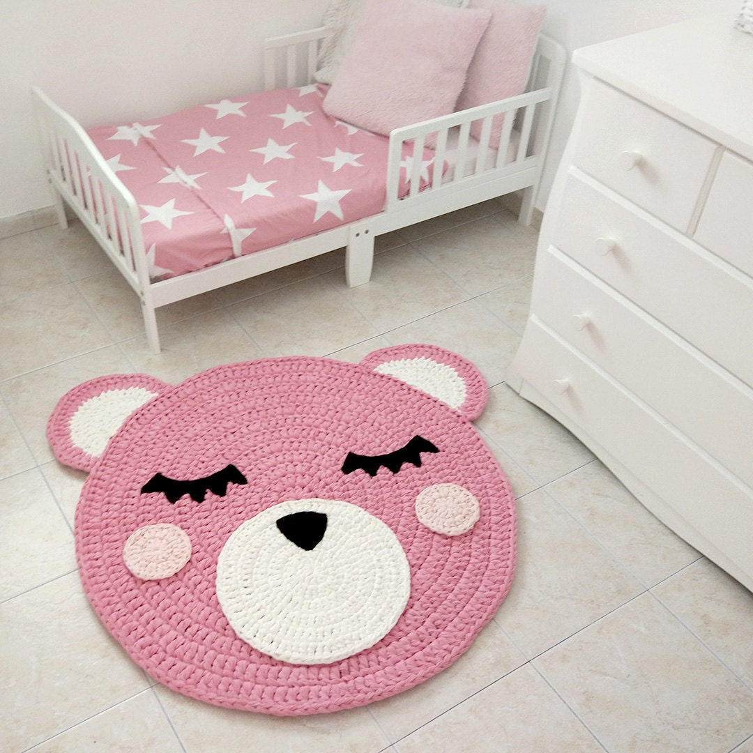 oso crochet alfombra alfombra de oso alfombra hecha a mano. Black Bedroom Furniture Sets. Home Design Ideas