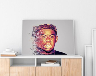 Tyler, the Creator Poster, Tyler, the Creator Print, Tyler, the Creator, Tyler, the Creator Wall Art, Kendrick Lamar, , Hip Hop Poster