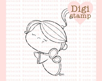 Little Angel Stamp for Card Making, Paper Crafts, Scrapbooking, Hand Embroidery, Invitations, Stickers, Cookie Decorating