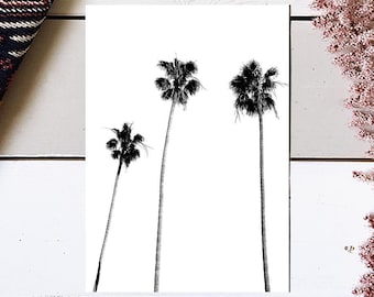 Palm Tree Print, Palm Print, Palm Tree Photography, Black and White, Palm Tree Art, Beach Wall Art, Tropical Wall Art, Tropical Decor