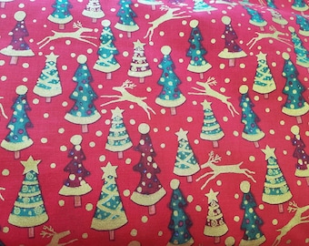 Christmas - red. Cotton fabric