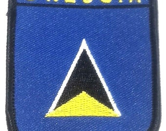 St. Lucia Embroidered Patch