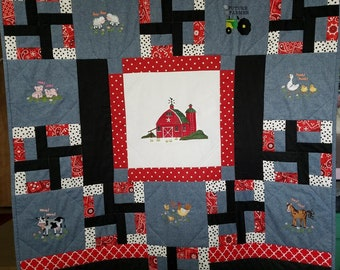 Future Farmer infant/toddler/crib quilt, car seat/ stroller cover