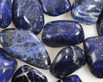 Sodalite-Tumbled Sodalite-Blue Sodalite-Polished Sodalite-Tumbled Dark Blue Sodalite-Natural Sodalite-Genuine Sodalite Stone
