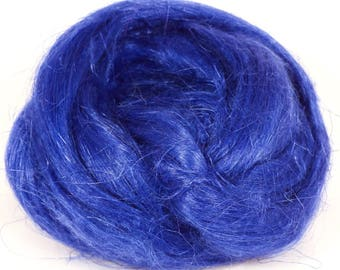 100% Dyed Flax combed top - Briny - (2 oz.)