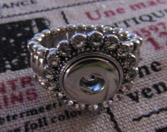 silver ring, elastic ring, for pressure 12mm in diameter