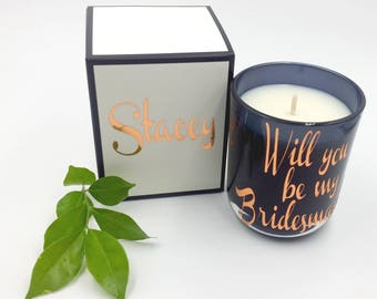 Bridesmaid proposal candle-scented soy candle-wedding candles gift-bridesmaid gift box-bridesmaid candle-personalised bridesmaid proposal