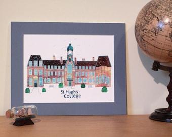 Oxford Illustrations: St Hughs College