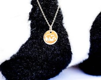 PANDA kid engraved necklace