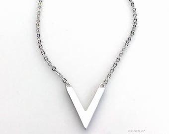 V Arrow Necklace