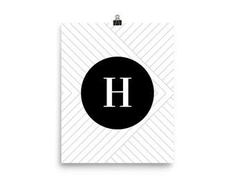 Santorini Collection H print