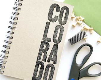 Blank Notebook. Blank pages drawing pad. Sketch book. Letterpress printed notebook. Colorado love notebook.