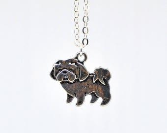 Shih Tzu Pendant Puppy Dog Necklace Bailey - Chinese Lion Dog Necklace - Small Dog Pendant -Shih Tzu Necklace -Shih Tzu Gift -Dog Lover Gift