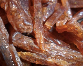 Orange Kyanite Chips, Natural Rough Raw by Weight; Red Kyanite Chips