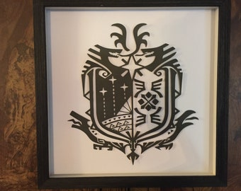 12x12 Monster Hunter Reasearch Commission Shadow Box