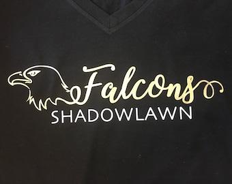 Shadowlawn Falcons Head Foil **multiple shirt options**