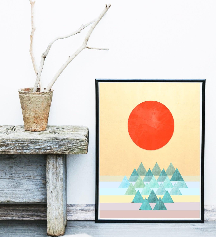 Scandinavian Design Art Print Geometric Print Abstract