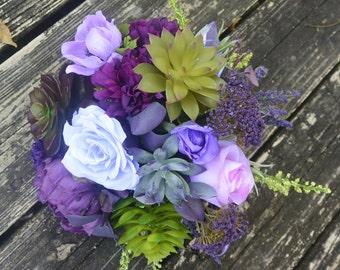 Purple Majesty Succulent Bouquet