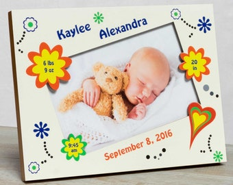 Personalized Baby Picture Frame, Baby Girl Picture Frame, New Baby Girl Frame, Girl Birth Frame, Baby Girl Frame, Picture Frame Baby Girl