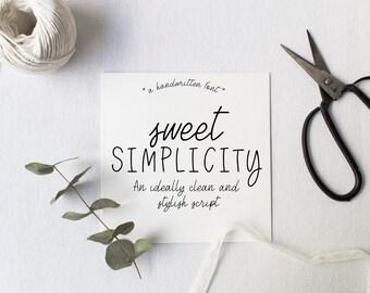Sweet Simplicity Script Font