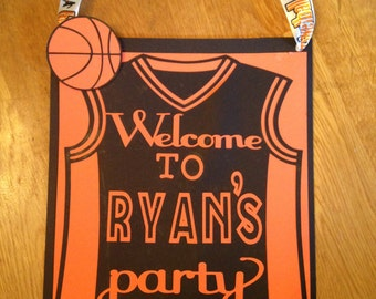 Beau Basketball Door Sign,birthday Party Door Sign,basketball Decorations, Basketball Birthday Party,