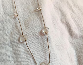 Floating Quartz Necklace