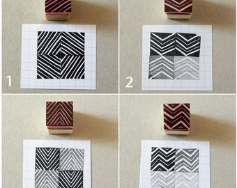 Stamps of lines, set of 5, mini stamps, gift for him, DIY projects, architectural decor