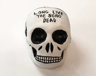 Long Live The Soho Dead Plaster Skull