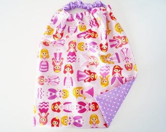 "elastic ""Princess"" child towel"