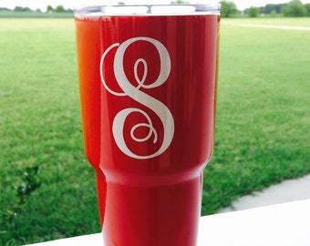 Monogrammed (Single letter) Cup Decals