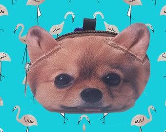 Pomeranian dog  coin  purse dog coin coin  purses