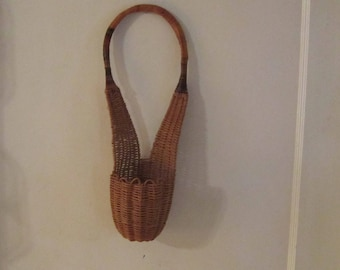 unusual wicker wall basket planter wall decor baskets